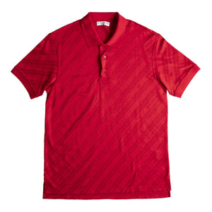 GIVENCHY CHAIN JACQUARD POLO RED