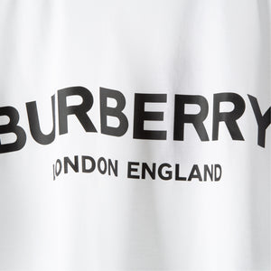 BURBERRY LOGO-PRINT T-SHIRT WHITE