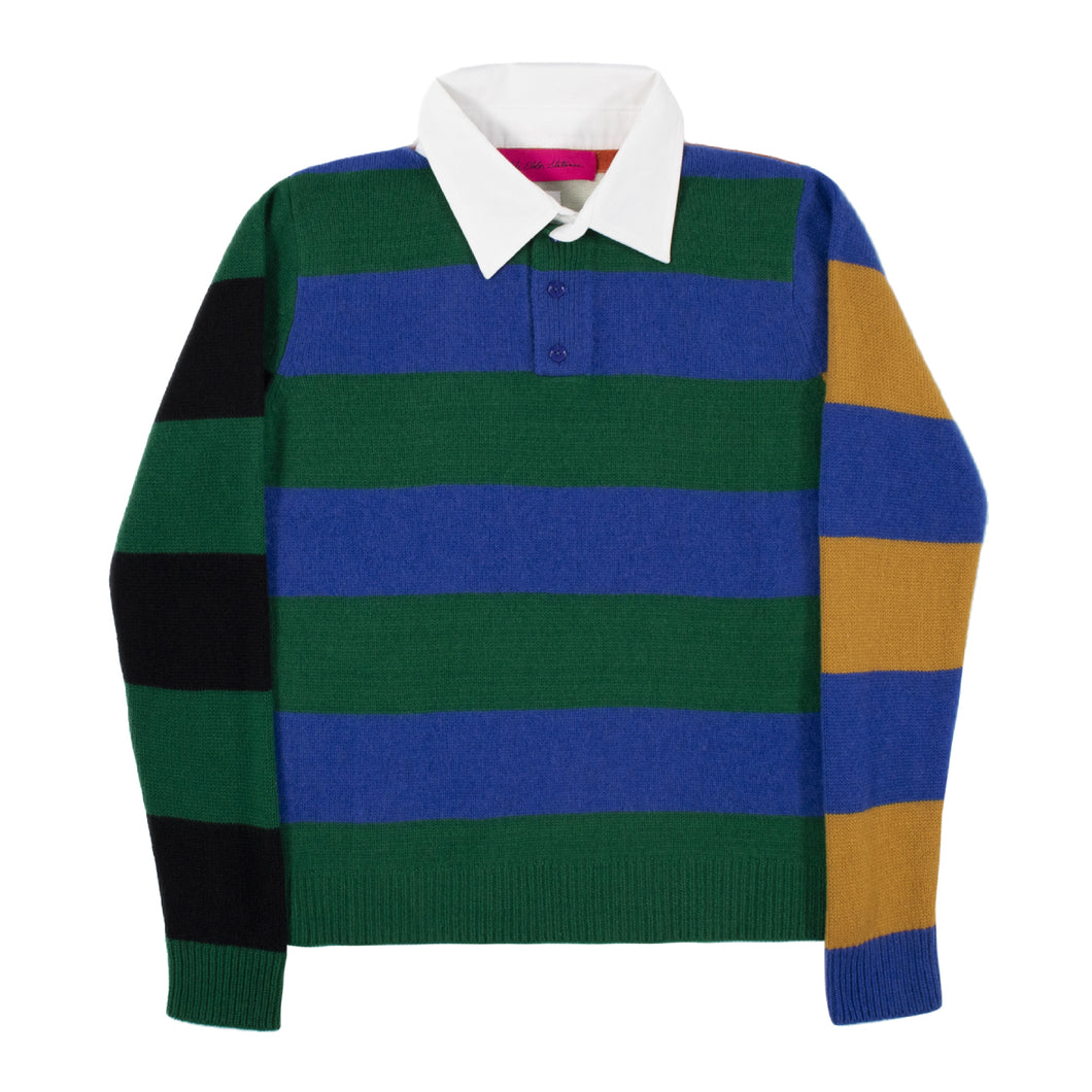 THE ELDER STATESMAN RUGBY POLO MULTI