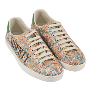 GUCCI PRINTED LACE-UP SNEAKERS MULTI
