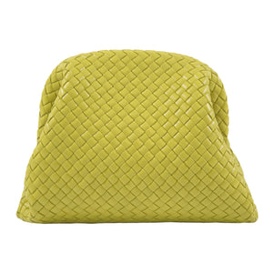 BOTTEGA VENETA LARGE CLUTCH GREEN