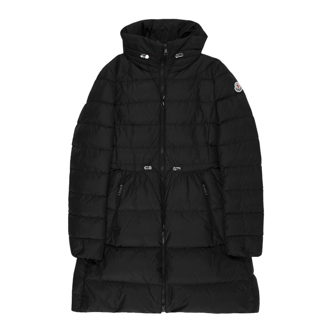 MONCLER CINCHED-WAIST PUFFER COAT BLACK
