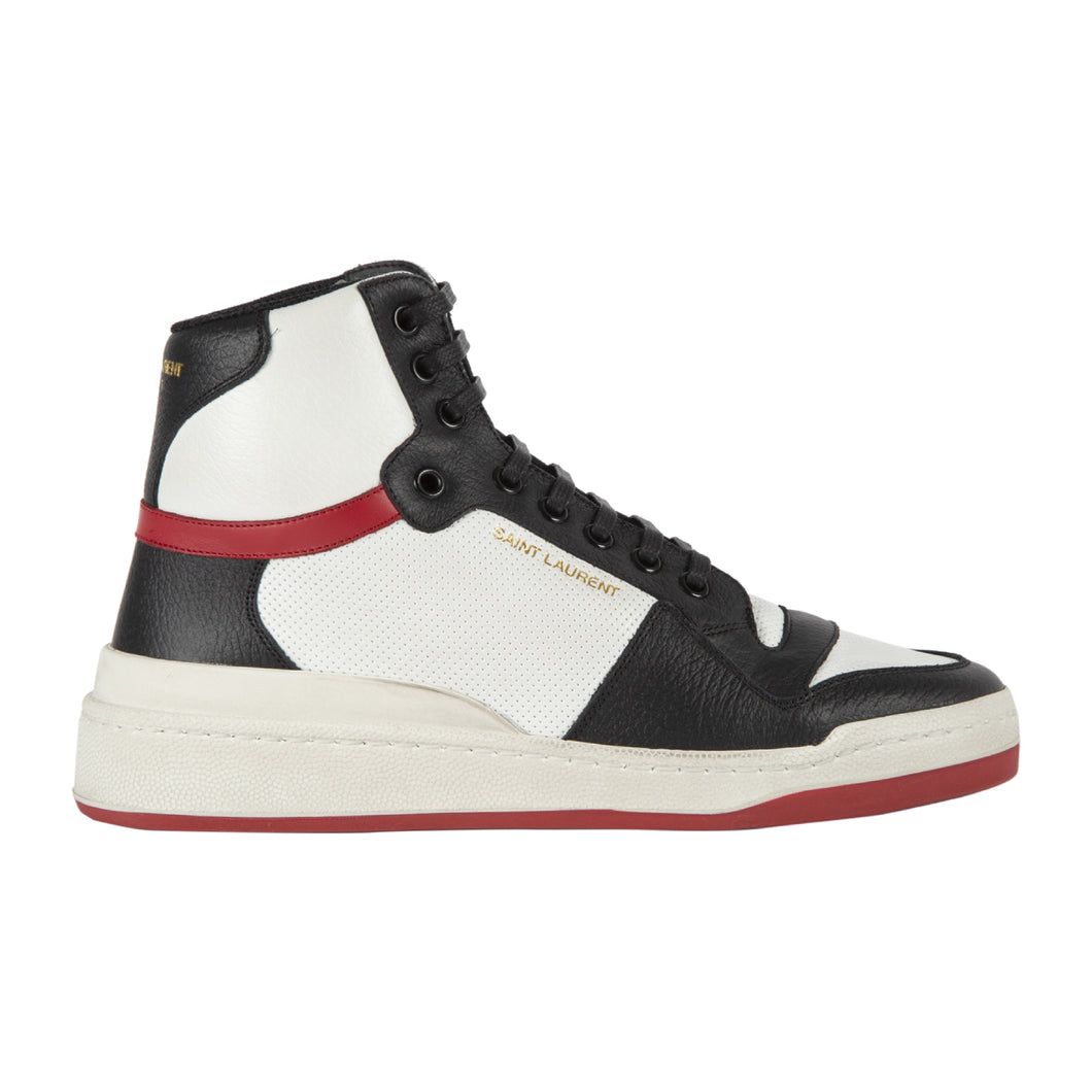 SAINT LAURENT SL24 HIGH TOP SNEAKER WHITE