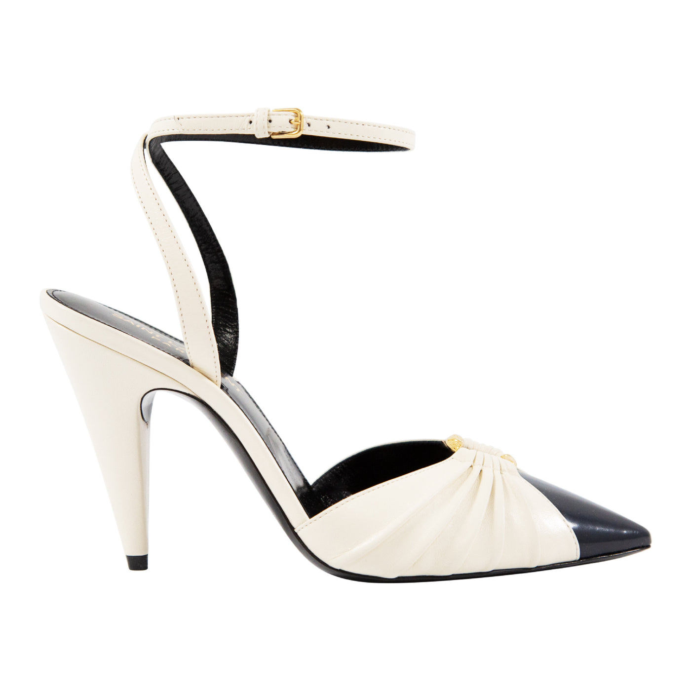 Load image into Gallery viewer, SAINT LAURENT ANKLE-STRAP PUMP NEUTRAL