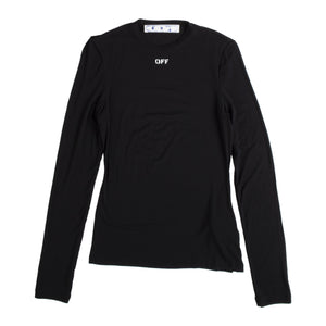 OFF WHITE LONG-SLEEVE T-SHIRT BLACK