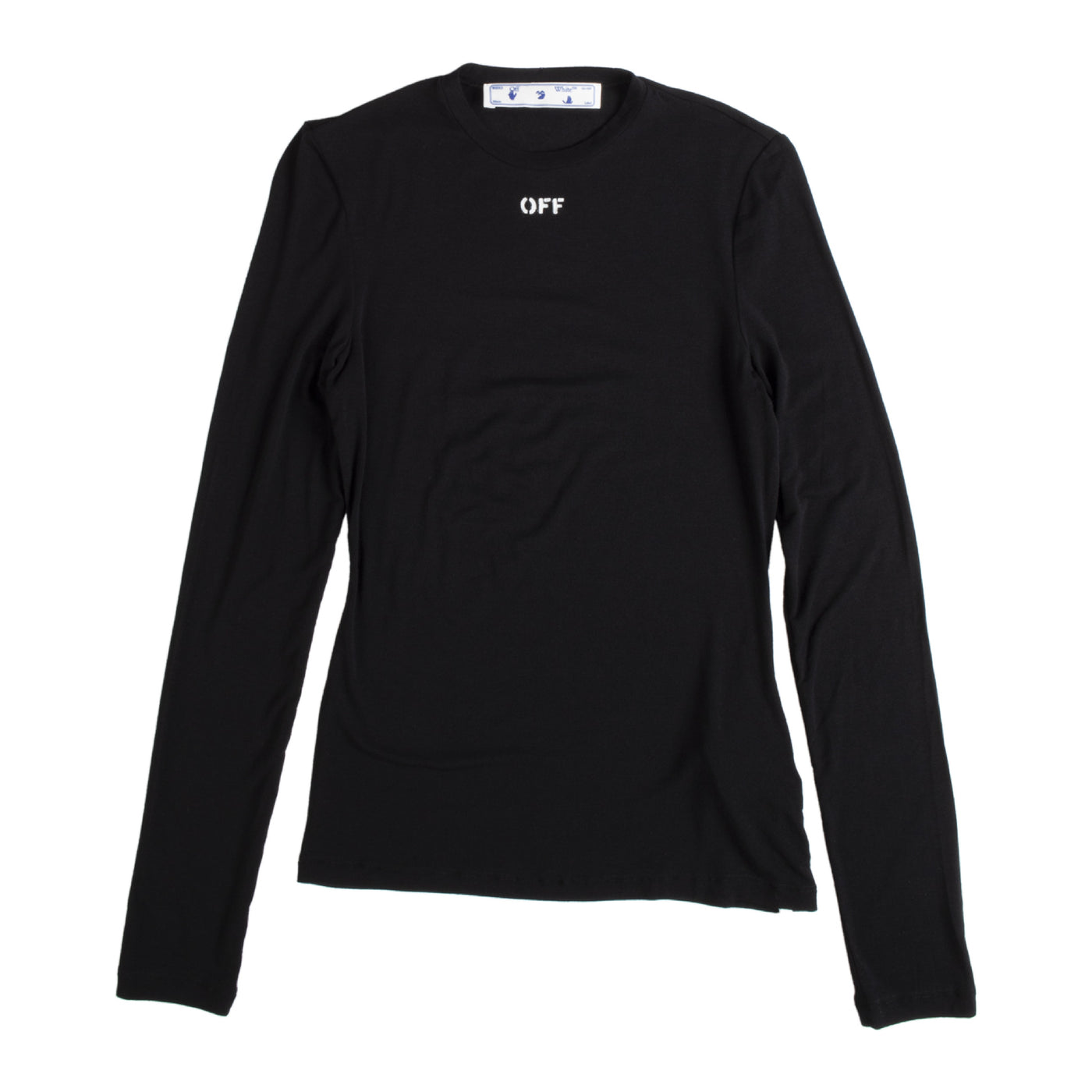 Load image into Gallery viewer, OFF WHITE LONG-SLEEVE T-SHIRT BLACK