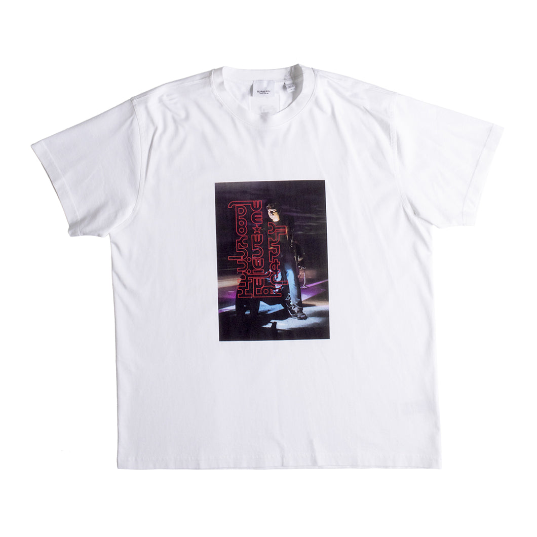 BURBERRY SCREEN-PRINTED T-SHIRT WHITE