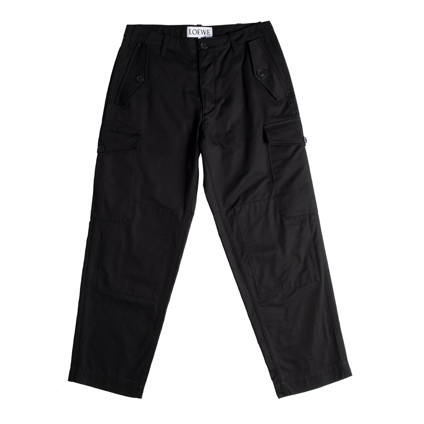 Load image into Gallery viewer, LOEWE CARGO TROUSERS BLACK