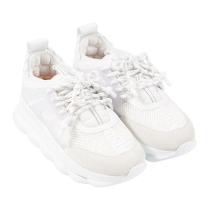 VERSACE CHUNKY TRAINER SNEAKERS WHITE