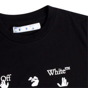 OFF-WHITE BIG LOGO SLIM TEE BLACK