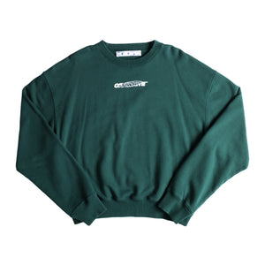 OFF-WHITE HAND PAINTERS OVER CREWNECK GREEN