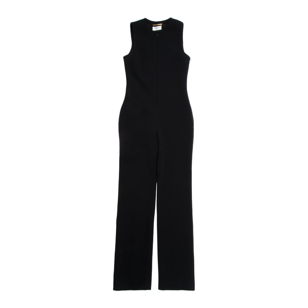 SAINT LAURENT TANK JUMPSUIT BLACK