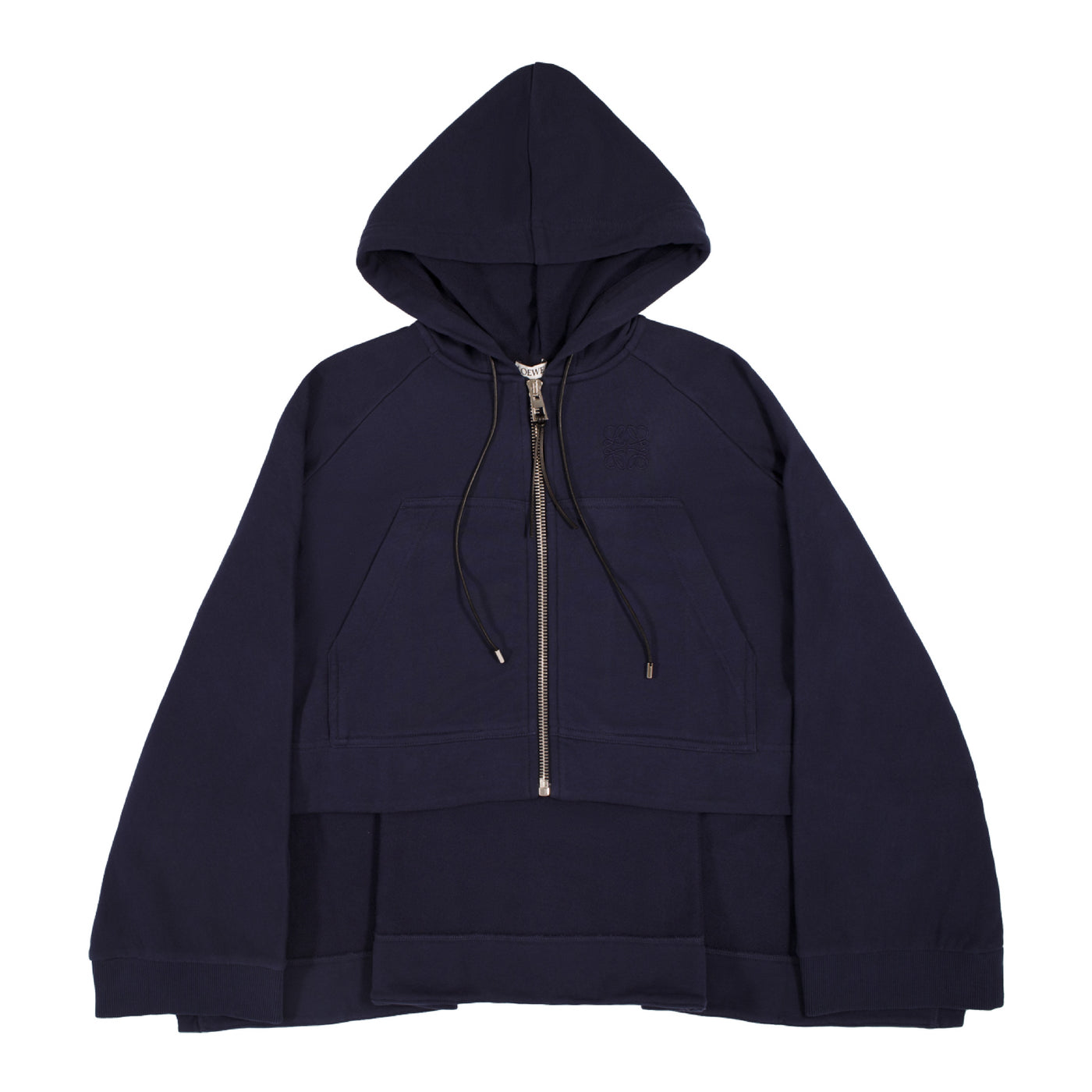 Load image into Gallery viewer, LOEWE OVERSIZED ZIP-FRONT HOODIE NAVY