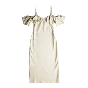"JACQUEMUS ""PAMPELONNE"" DRESS NEUTRAL"
