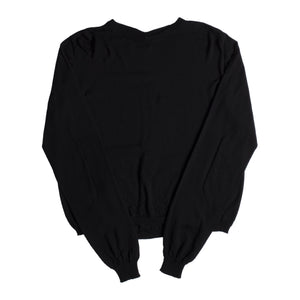 RICK OWENS CROPPED OVERSIZED SWEATER BLACK