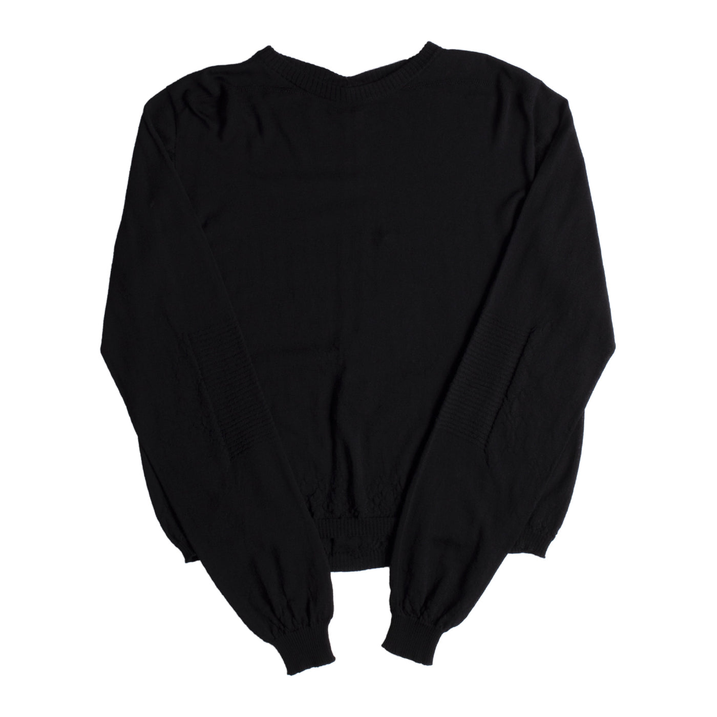 Load image into Gallery viewer, RICK OWENS CROPPED OVERSIZED SWEATER BLACK