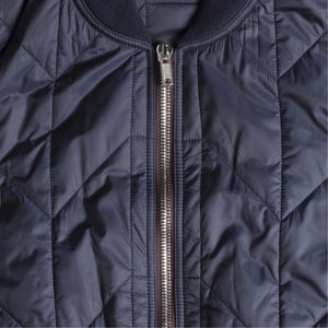 RICK OWENS CROPPED FLIGHT JACKET BLUE