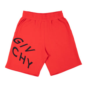 GIVENCHY REFRACTED JERSEY SHORT RED