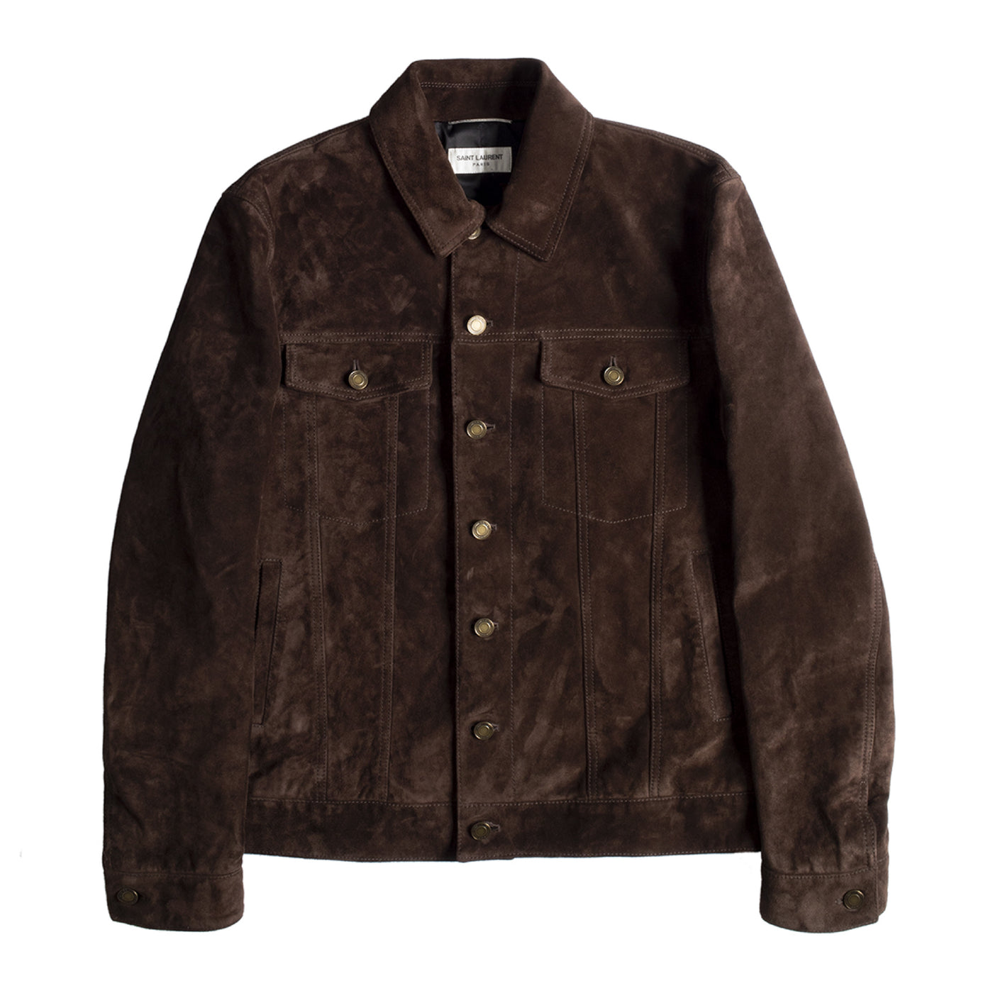 Load image into Gallery viewer, SAINT LAURENT CLASSIC DENIM JACKET BROWN