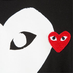 COMME DES GARCONS PLAY DOUBLE-HEART T-SHIRT BLACK
