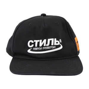 HERON PRESTON CTNMB HALO BASEBALL CAP BLACK