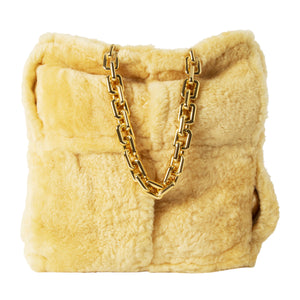 BOTTEGA VENETA THE CHAIN TOTE NEUTRAL