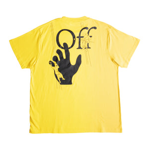 OFF-WHITE HAND PAINTERS OVER TEE YELLOW