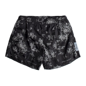 OFF-WHITE PAPERCLIP ALLOVER SWIMSHORTS BLACK