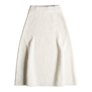 GABRIELA HEARST PABLO CASHMERE BOUCLE SKIRT NEUTRAL