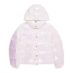 MONCLER HOODED PUFFER JACKET WHITE