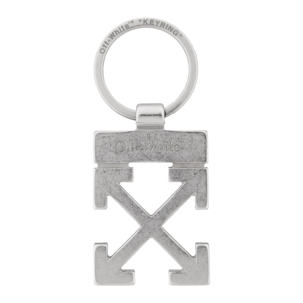 OFF-WHITE ARROWS KEY HOLDER SILVER