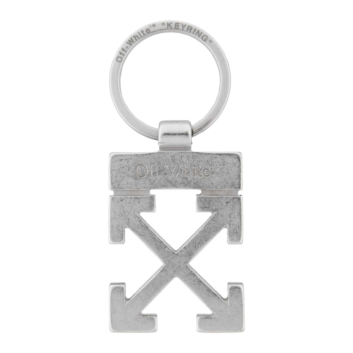 Load image into Gallery viewer, OFF-WHITE ARROWS KEY HOLDER SILVER
