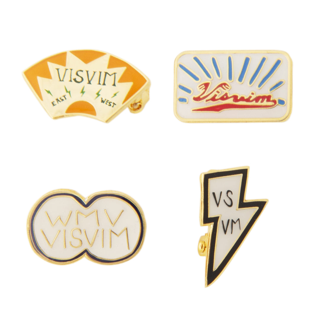 VISVIM LAPEL PIN SET MULTI
