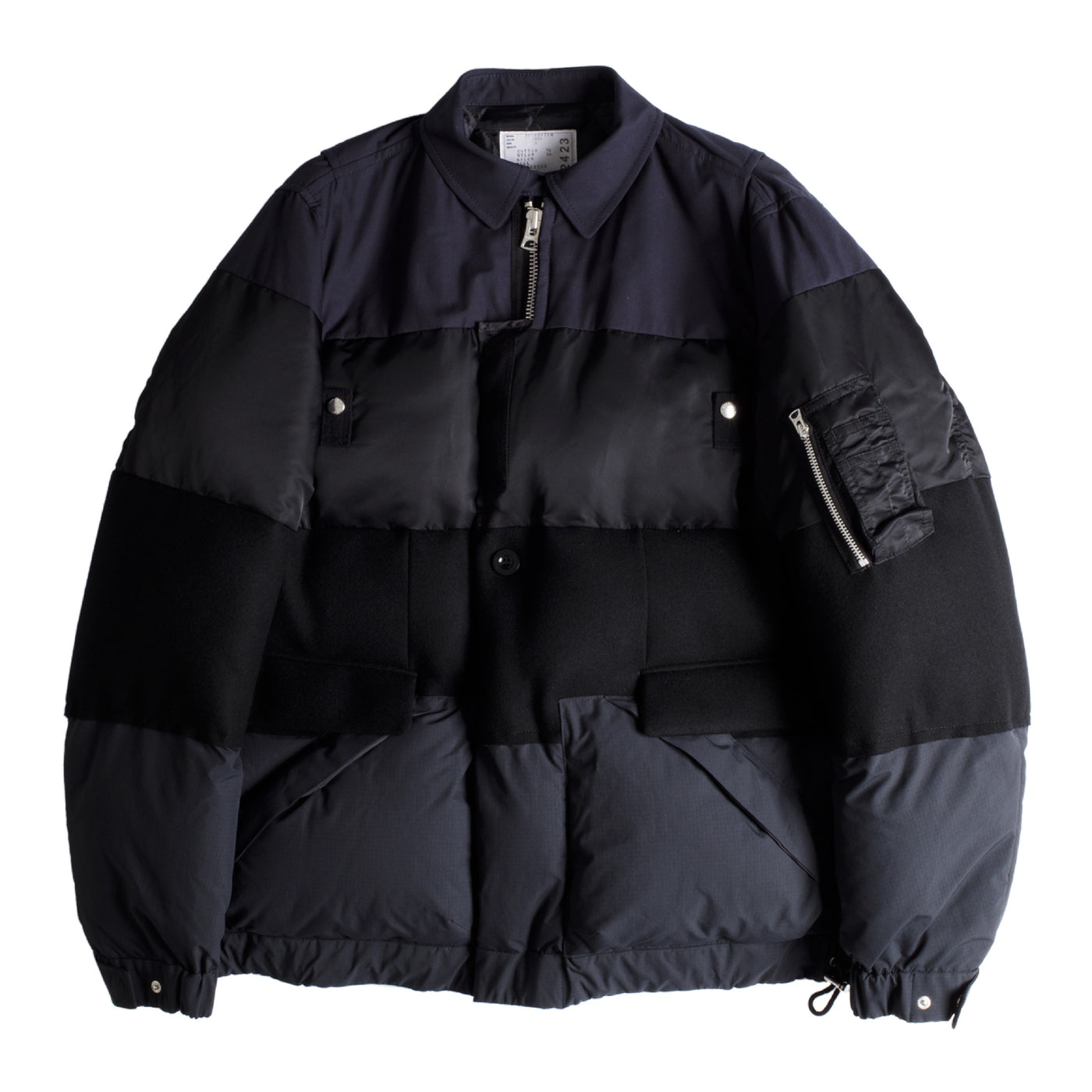 Load image into Gallery viewer, SACAI MELTON PADDED JACKET NAVY