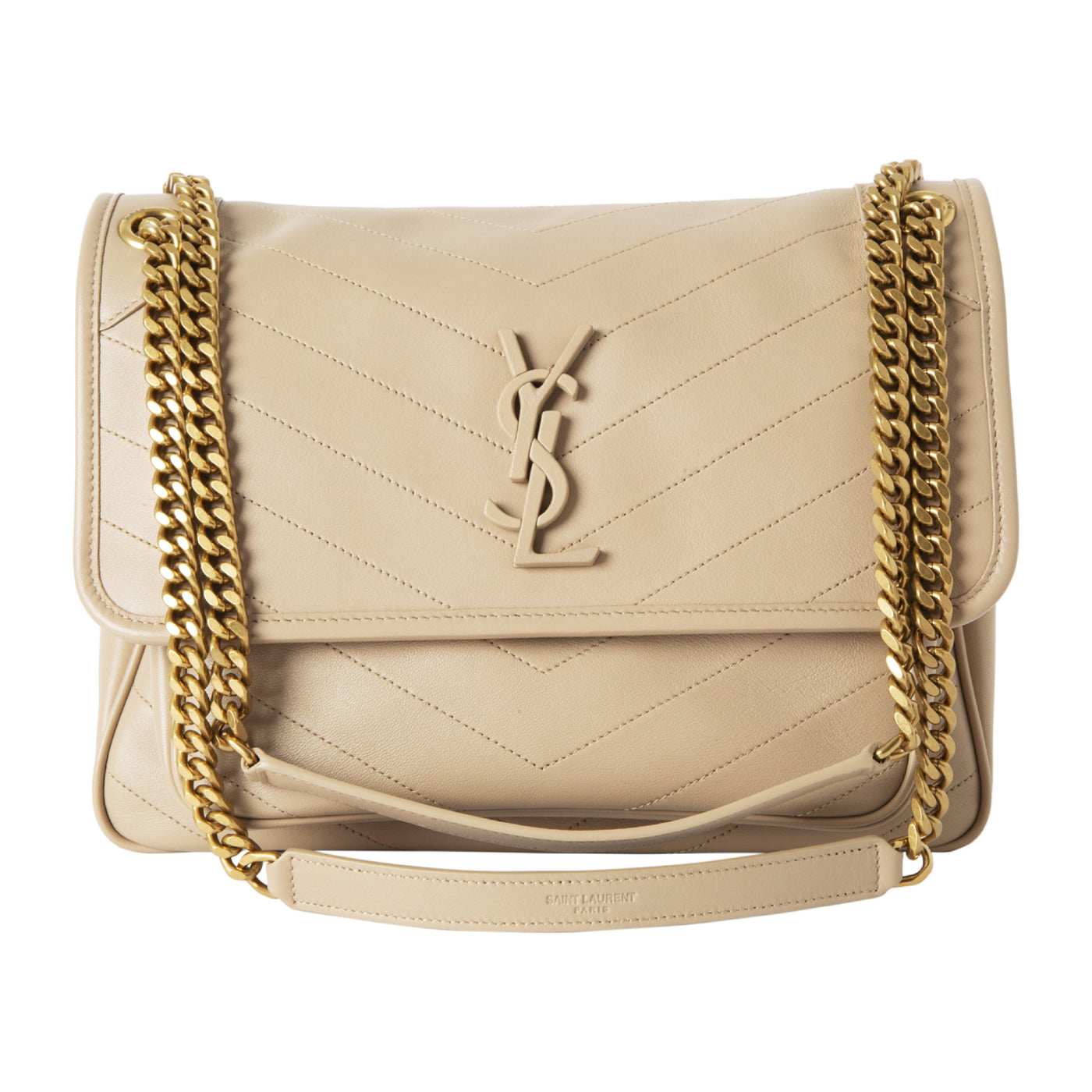 "Load image into Gallery viewer, SAINT LAURENT ""NIKI"" MONOGRAM HANDBAG NEUTRAL"