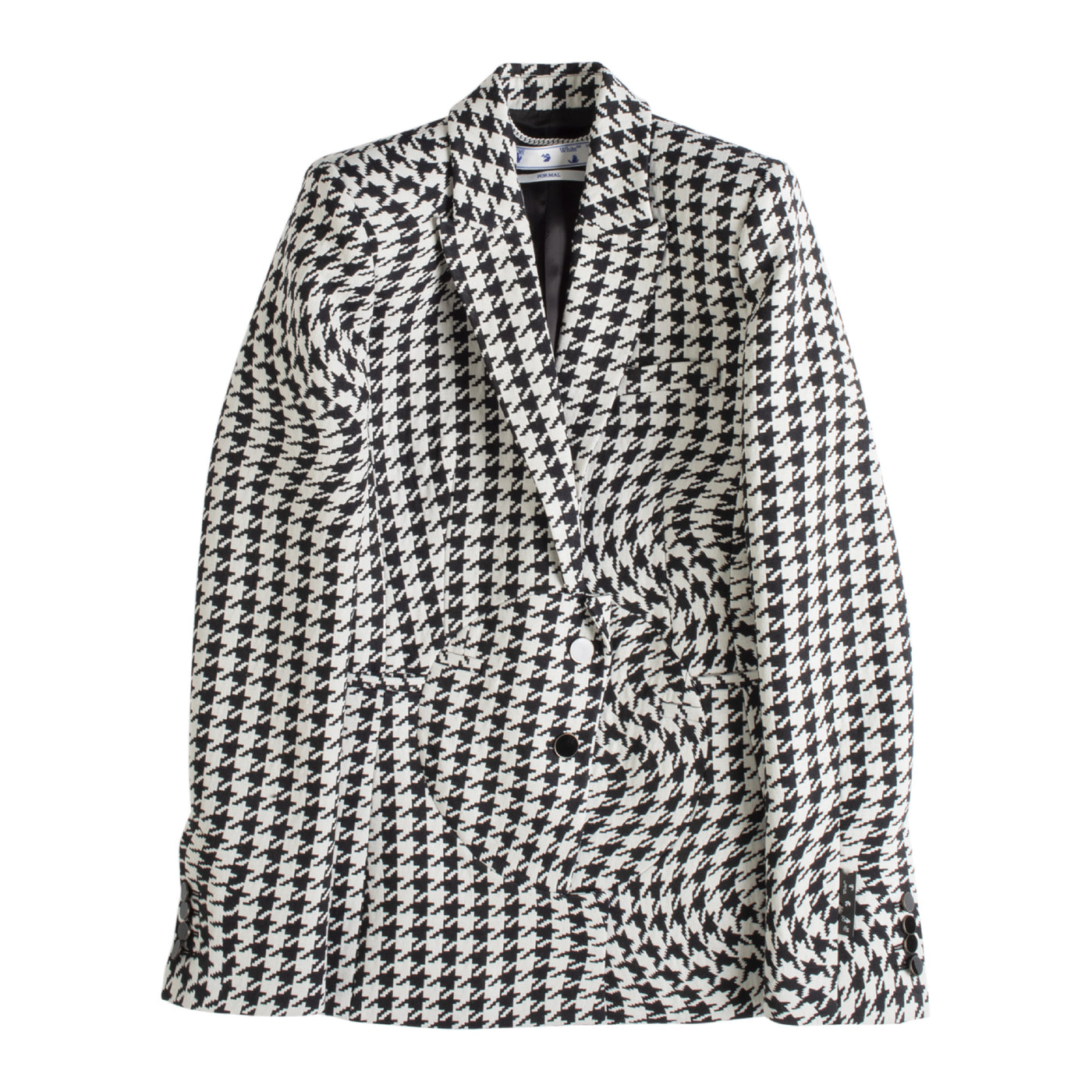 Load image into Gallery viewer, OFF WHITE FITTED HOUNDSTOOTH BLAZER BLACK