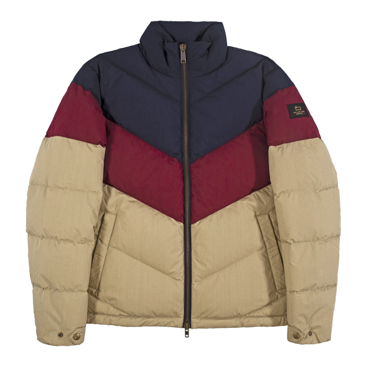 Load image into Gallery viewer, AIME LEON DORE WOOLRICH CHEVRON PUFFER NEUTRAL