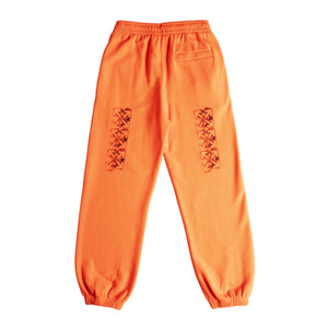 OFF-WHITE STENCIL SHORTEN SLIM SWEATPANT ORANGE