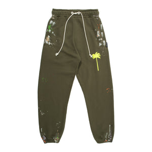 PALM ANGELS  PAINTED SWEATPANTS GREEN