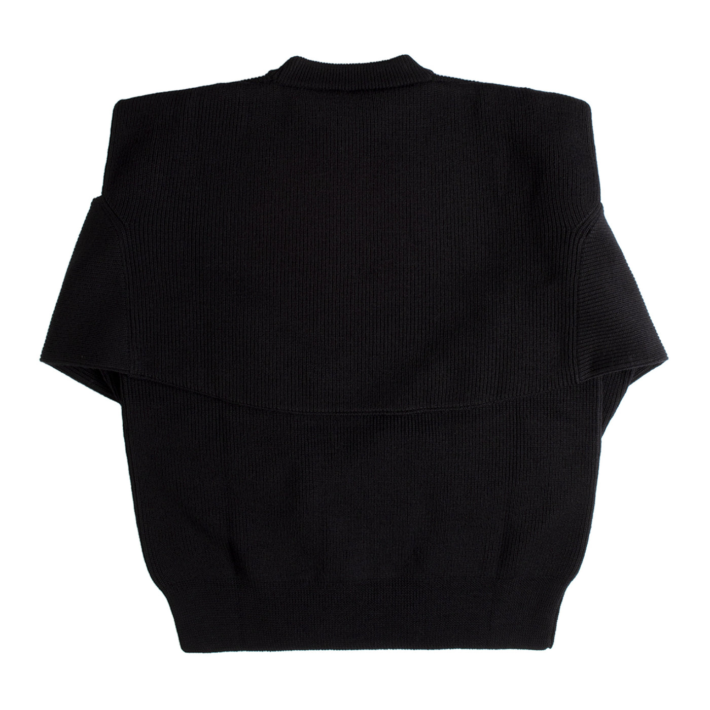 Load image into Gallery viewer, BALENCIAGA OVERLAY SWEATER BLACK