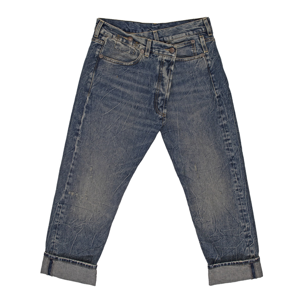 R13 CROSSOVER  JEANS BLUE