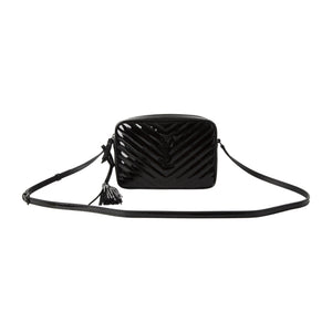 "SAINT LAURENT ""LOU"" MEDIUM SATCHEL BLACK"
