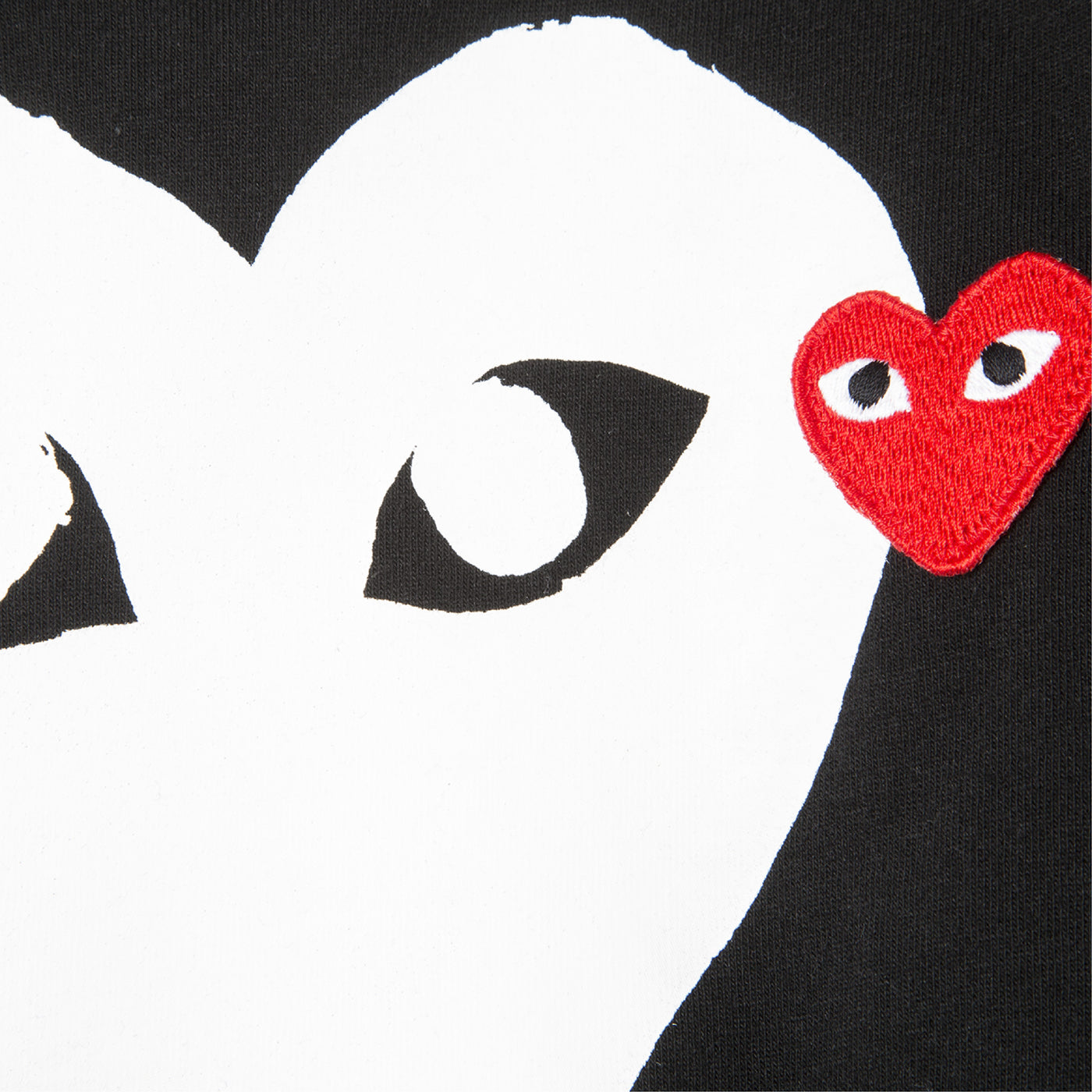 Load image into Gallery viewer, COMME DES GARCONS PLAY T-SHIRT WITH WHITE AND MINI RED HEART BLACK