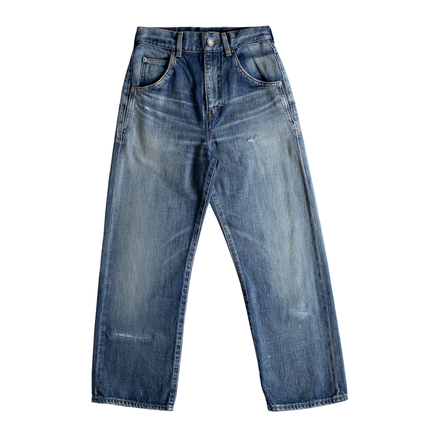Load image into Gallery viewer, SAINT LAURENT 70S CROP DENIM JEANS BLUE