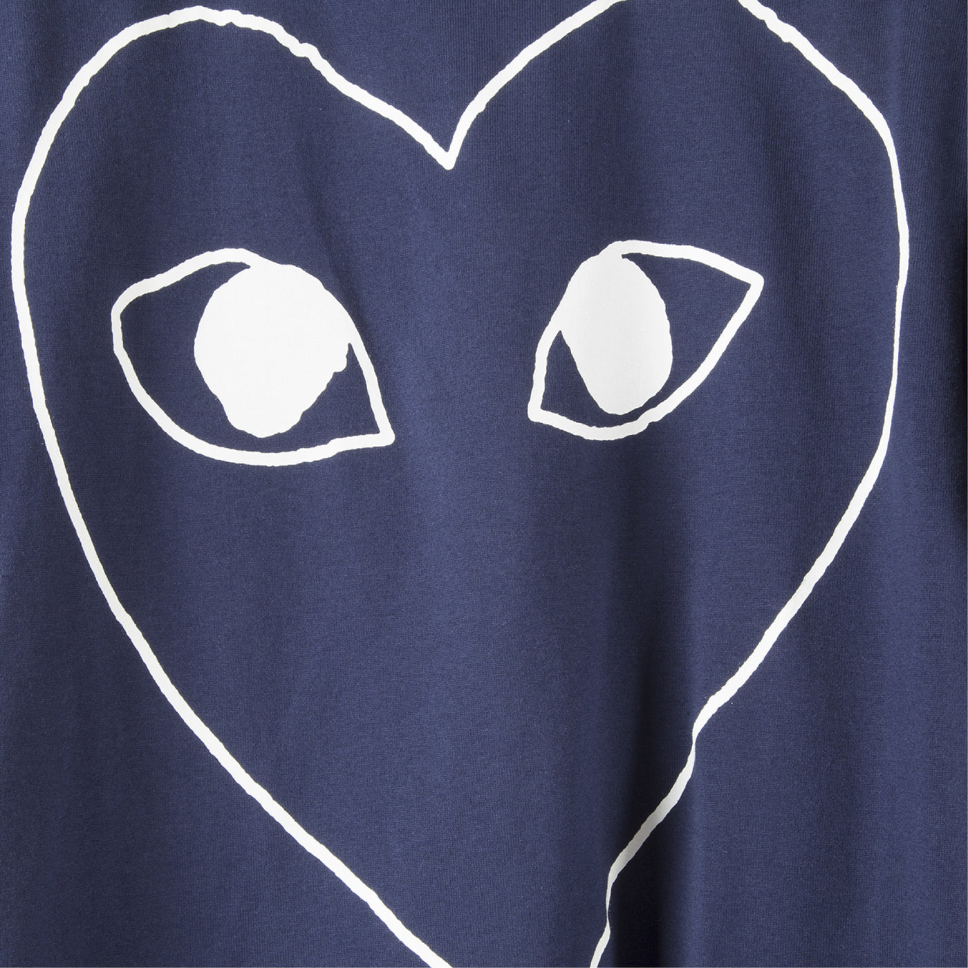 Load image into Gallery viewer, COMME DES GARCONS PLAY HEART T-SHIRT NAVY