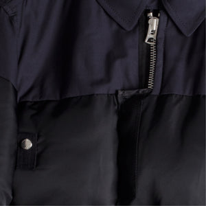 SACAI MELTON PADDED JACKET NAVY
