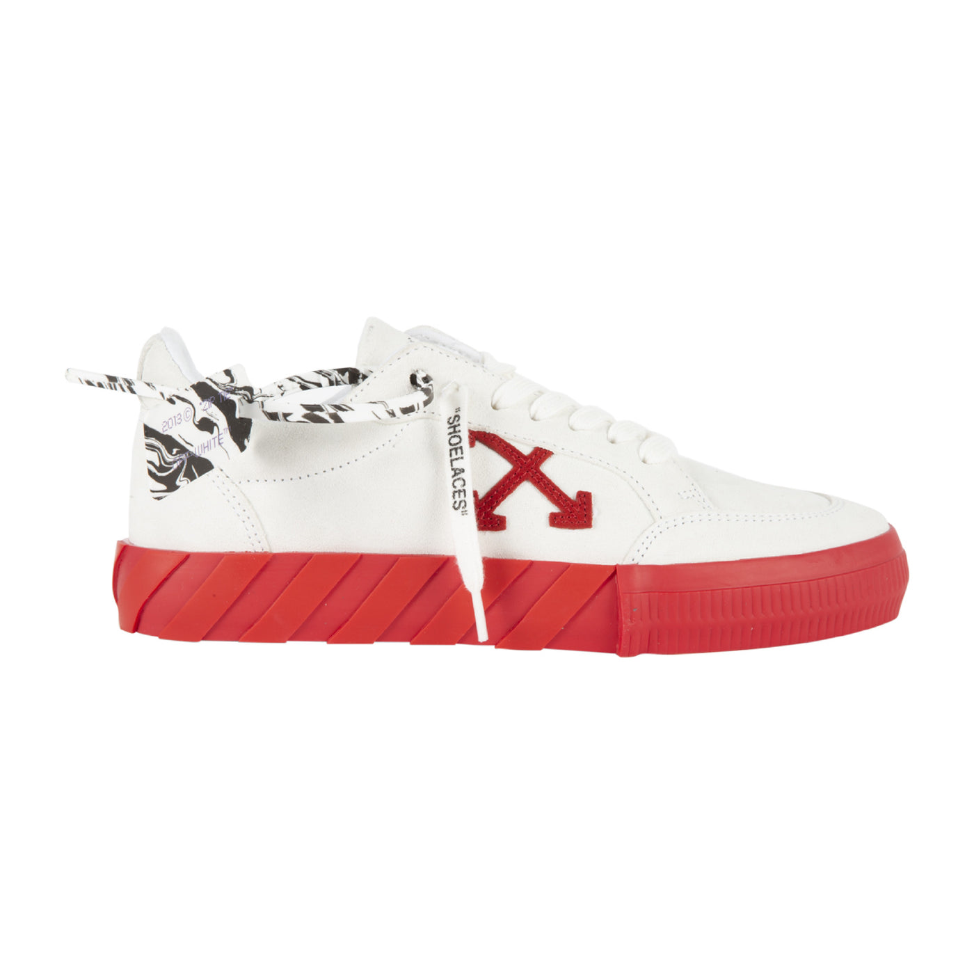 Load image into Gallery viewer, OFF-WHITE LOW VULCANIZED SUEDE SNEAKER WHITE