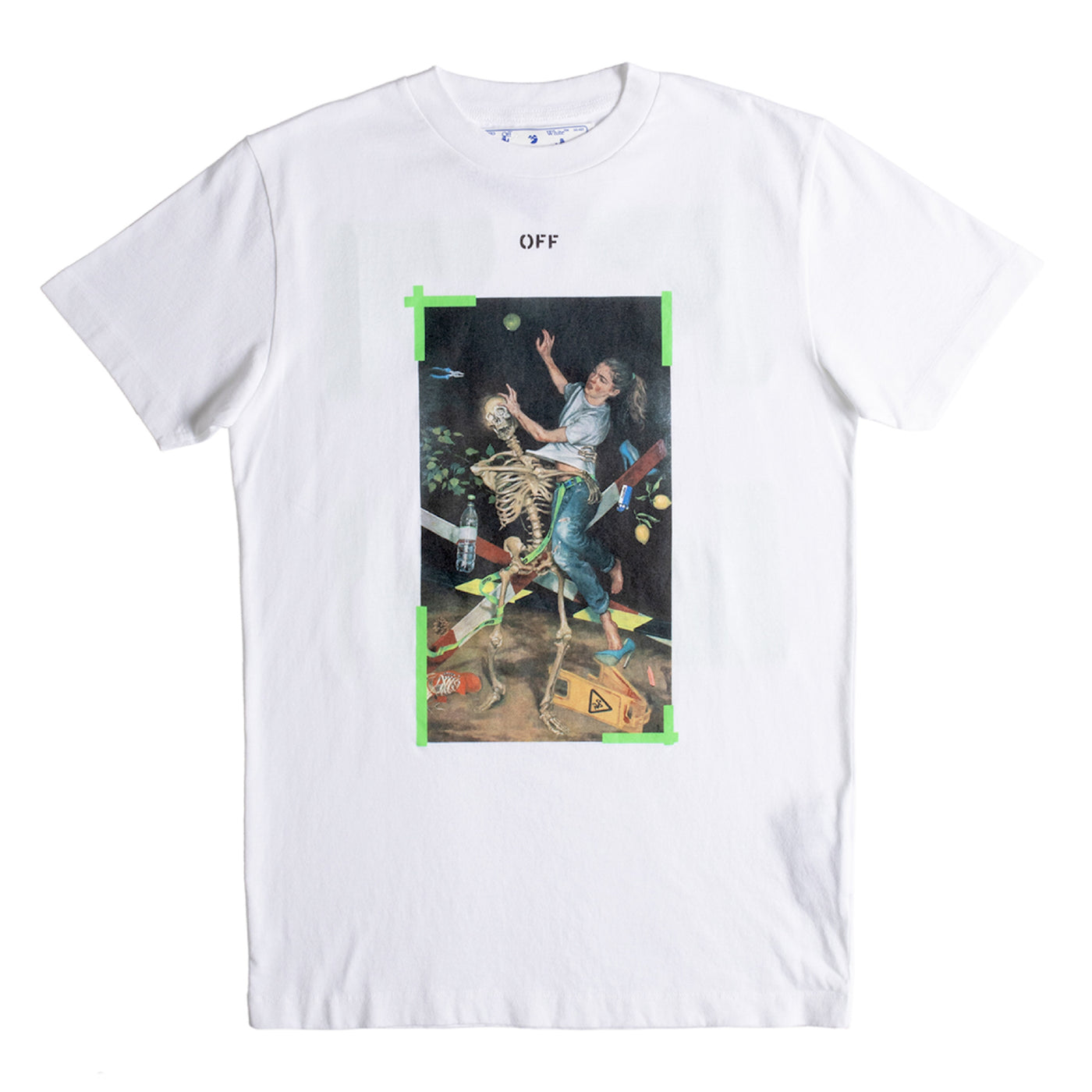 Load image into Gallery viewer, OFF-WHITE PASCAL PRINT SLIM TEE WHITE