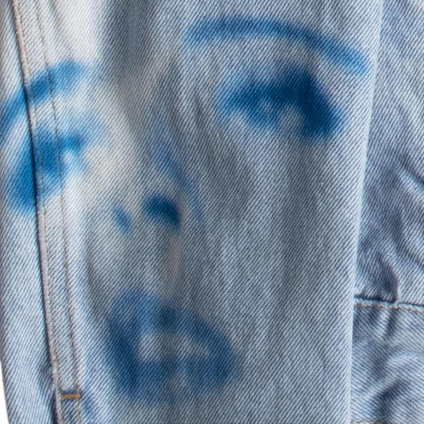 Load image into Gallery viewer, OFF-WHITE PRINTED FACE DENIM JACKET BLUE