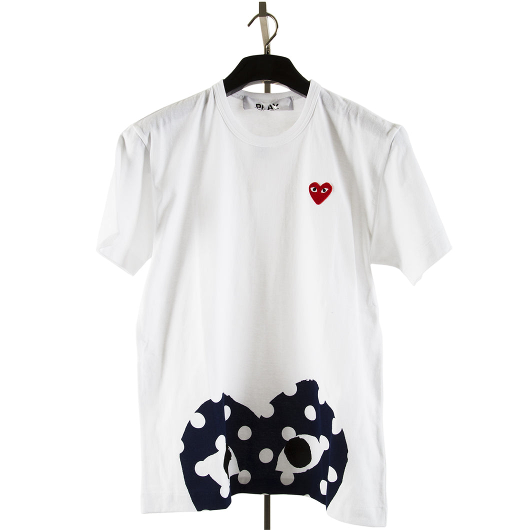 COMME DES GARCONS PLAY HALF-HEART T-SHIRT MULTI